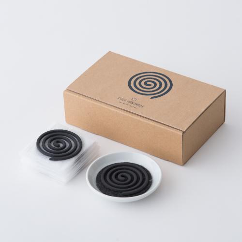 くすのき香セット (10巻+不燃マット付き香皿セット)