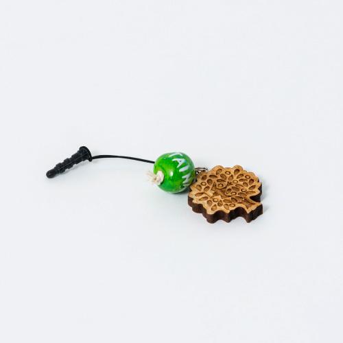 MOTTAINAI チャームストラップ 緑(MOTTAINAI)